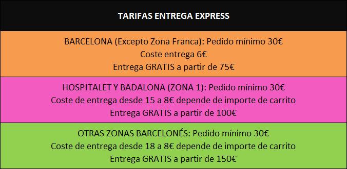 TARIFAS ENTREGA EXPRESS
